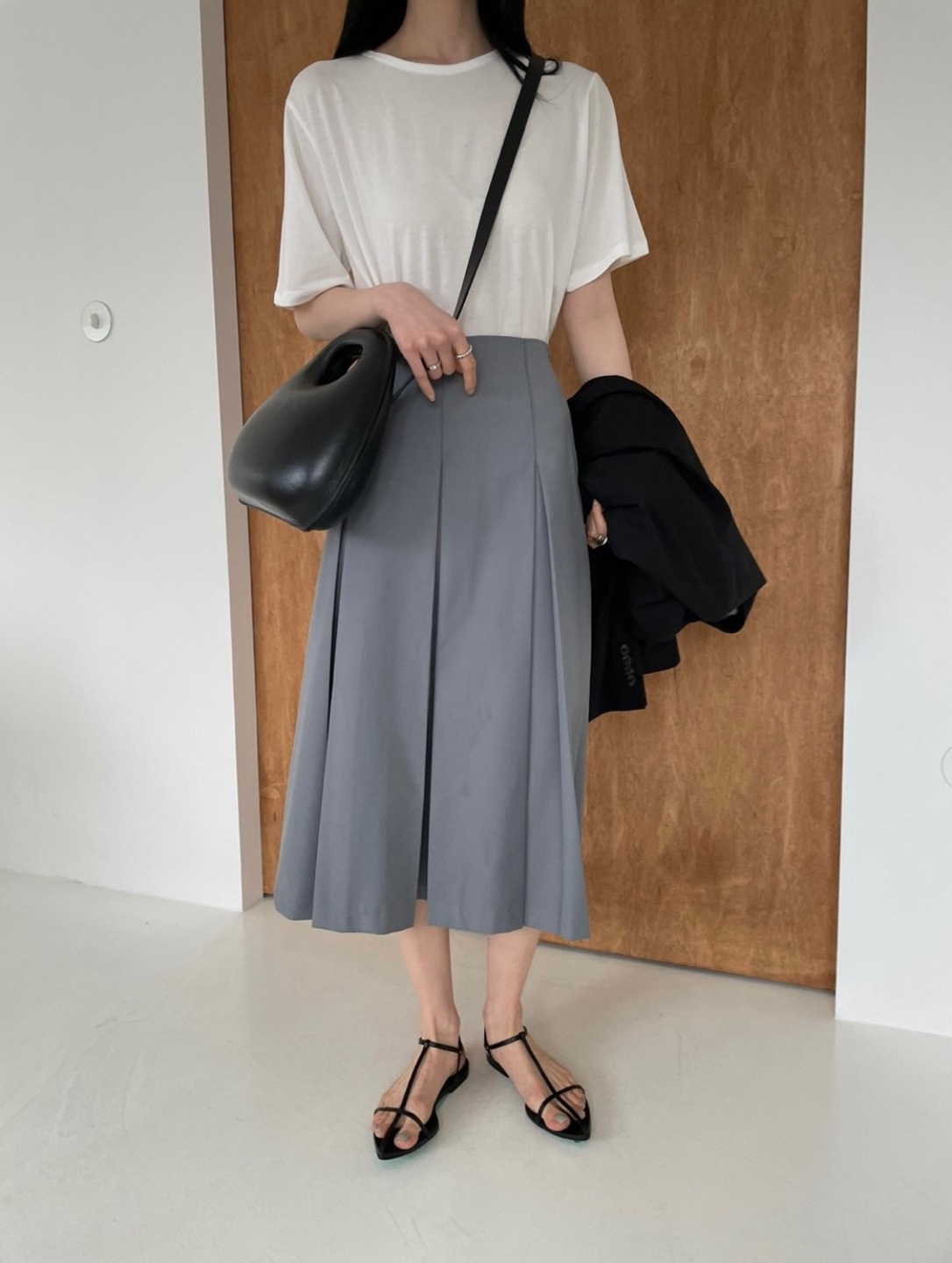 classic pleats skirt(일주일지연)