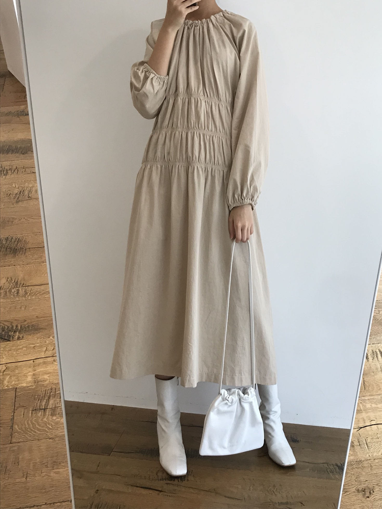 vive dress - beige