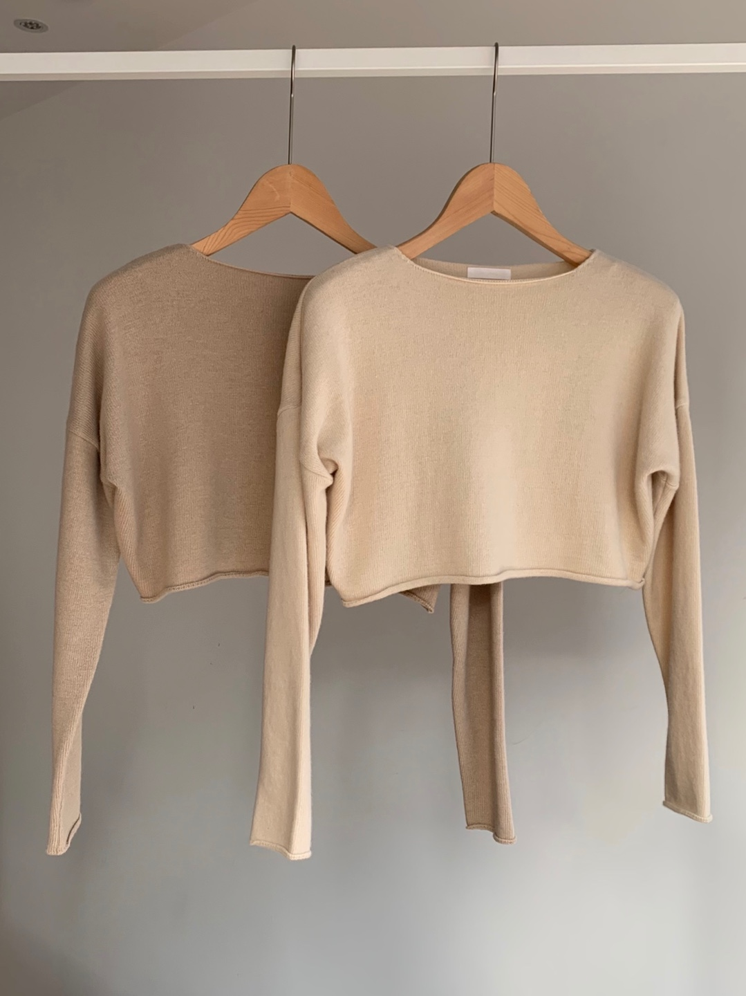 creamy crop knit