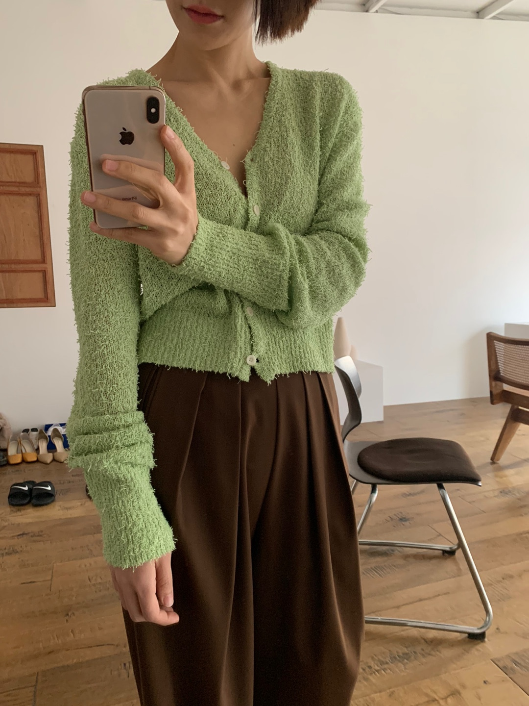 apple cardigan(배송지연)